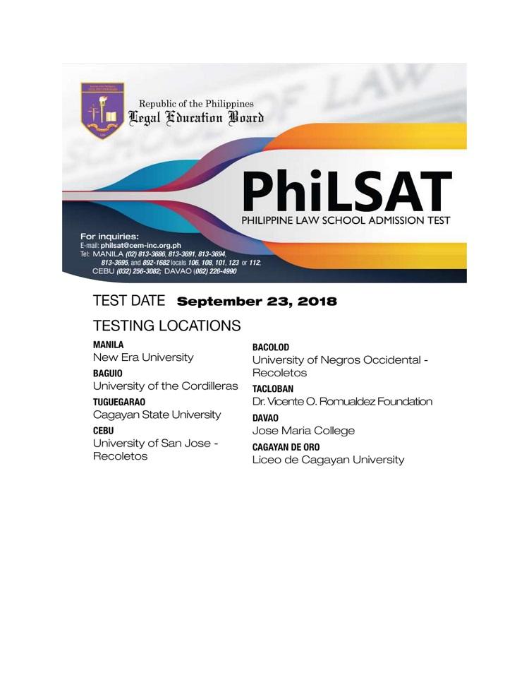 Xavier University - PHILSAT September 2018